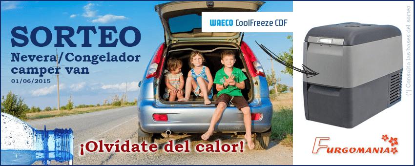 Sorteo FURGOMANIA. Sorteamos una nevera para tu furgoneta valorada en más de 300 euros. El mejor accesorio de camping para este verano.