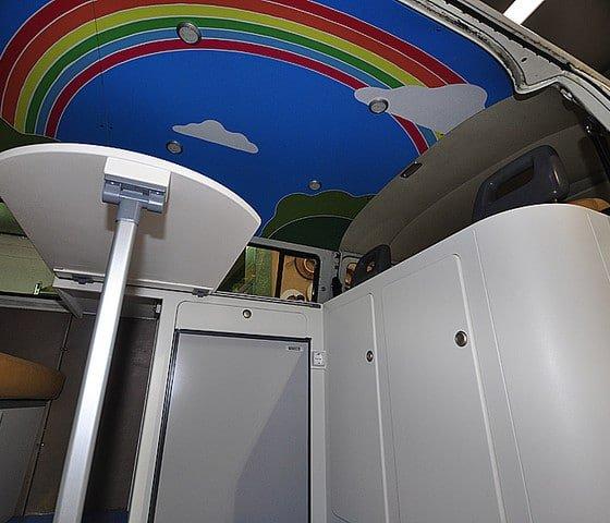 Vinilo decorativo para furgonetas camper, ejemplo de cómo quedaria el techo colorido