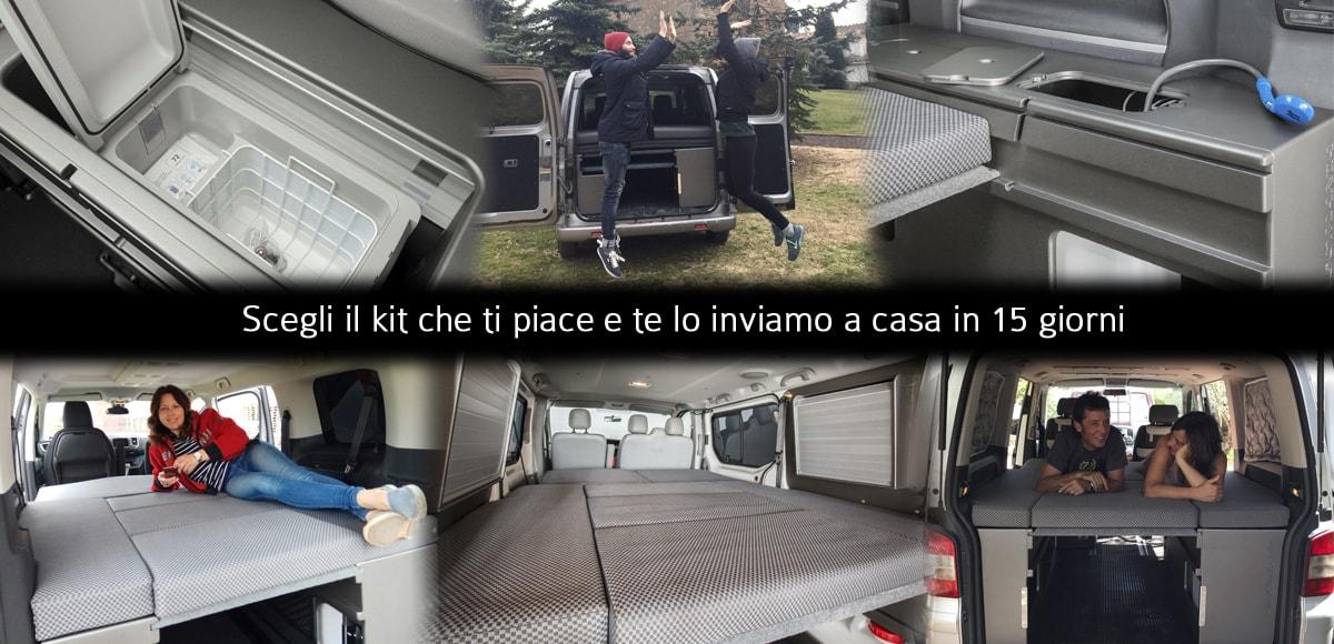 Mobili per trasformare furgoni in camper 1