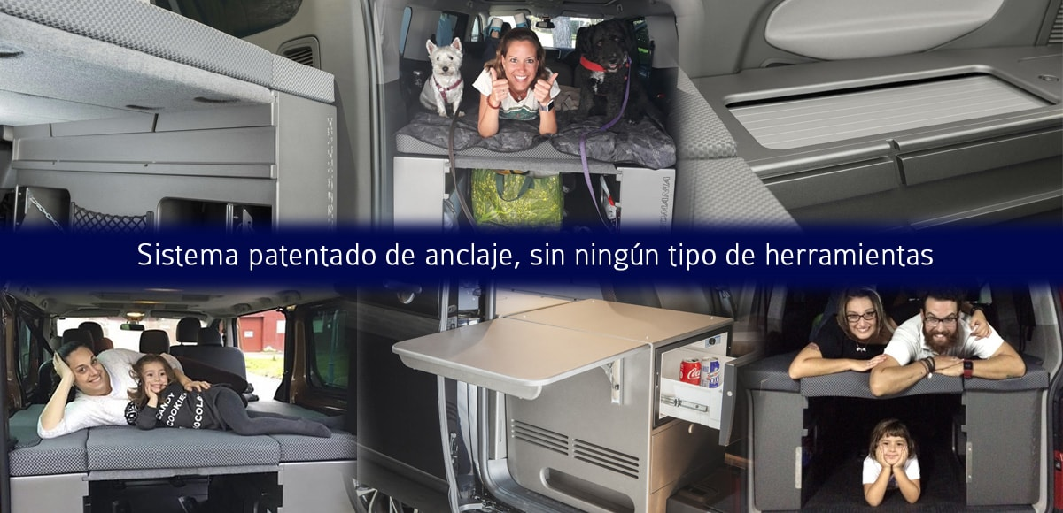 Muebles para equipar furgonetas camper4